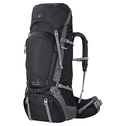5b89ce24cbf Amazon.com : Jack Wolfskin Men's Denali 75 Excursion Backpack, Black ...