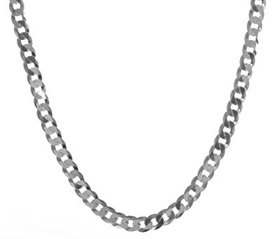 l itm necklace sterling ebay c solid chain curb mm silver
