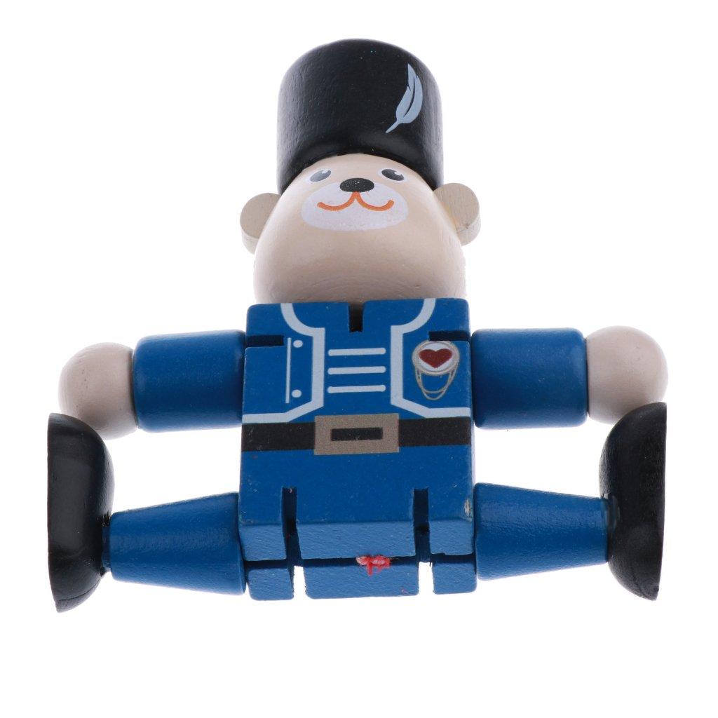 Marionnette En Noël Bois Cadeaux Sharplace Jouet D'ours De Robot j4L5AR
