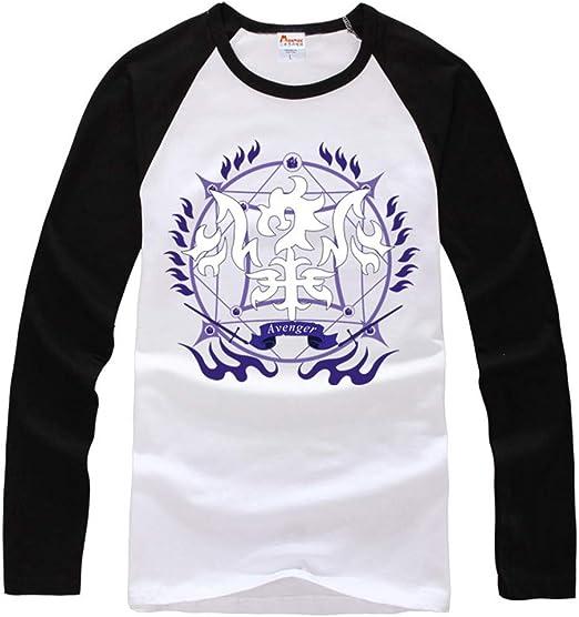 Fate/Grand Order Camiseta Explosion Hombre 110% Algodón Ligero Cuello Redondo en Blanco Camiseta básica de Manga Larga Camiseta Larga Top: Amazon.es: Ropa y accesorios