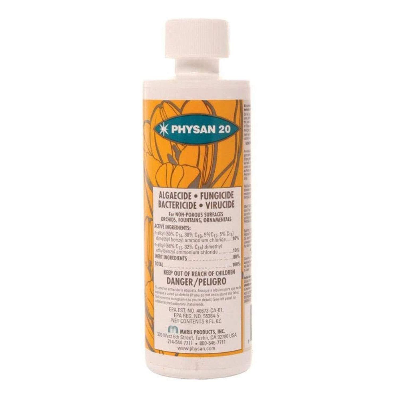 Hydrofarm Physan PSPTA20 Algaecide, Fungicide, Bactericide, Virucide, 16-Ounce fertilizers, 16 oz, Natural