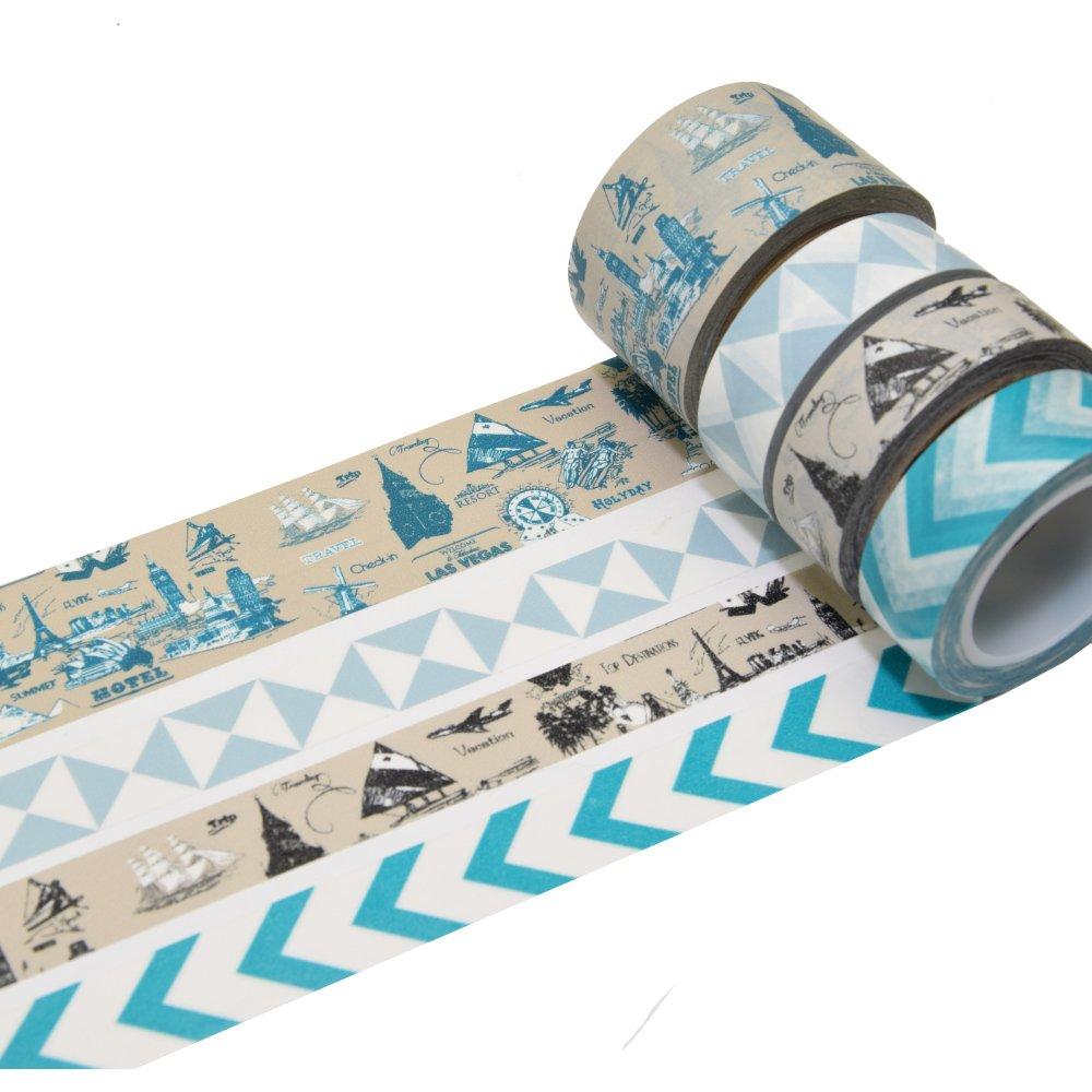 K-LIMIT 6 Set Washi Tape Masking Tape Adhesive Scrapbooking DIY Craft Decor Scrapbooking Christmas gift idea 8775