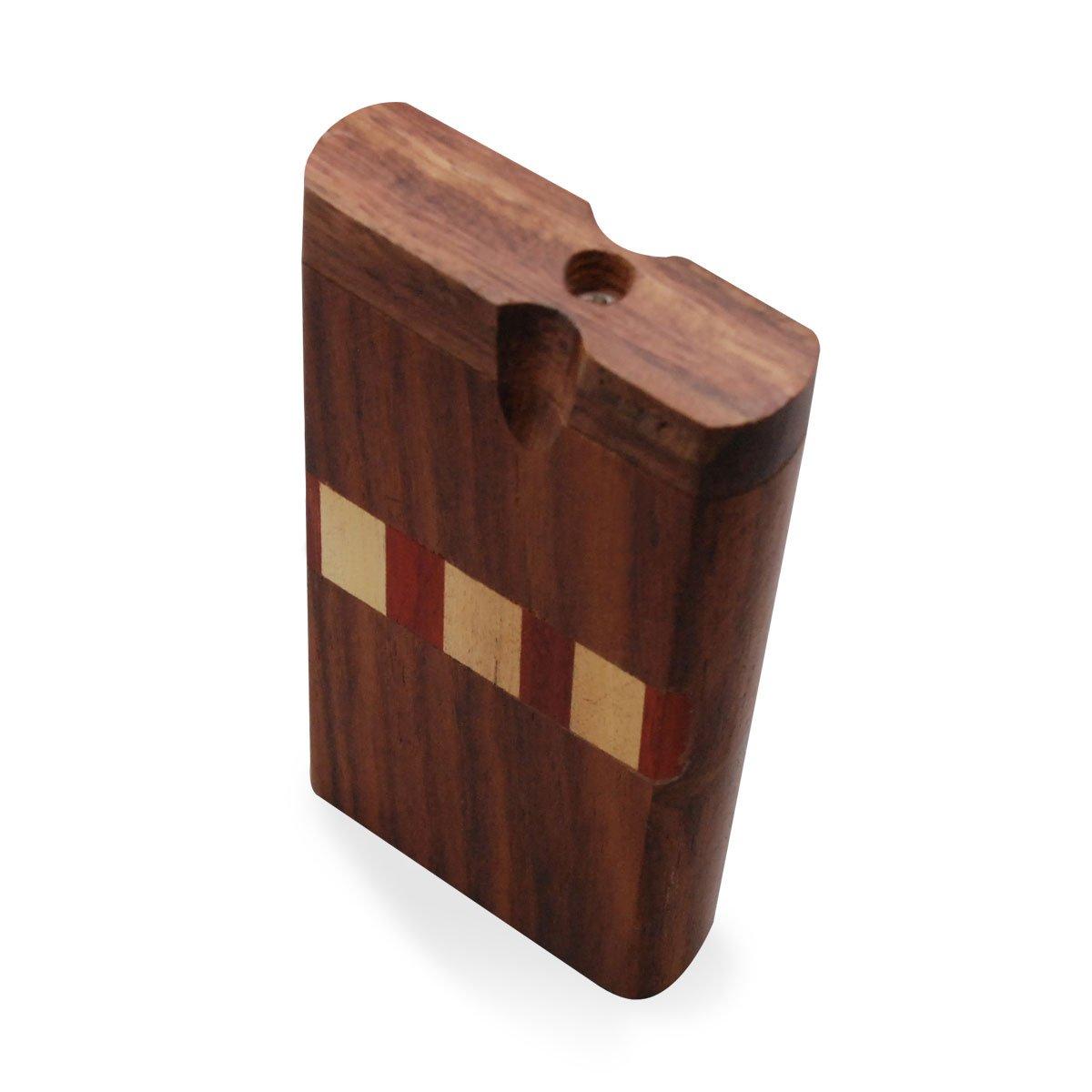 Striped Wooden Tobacco Box