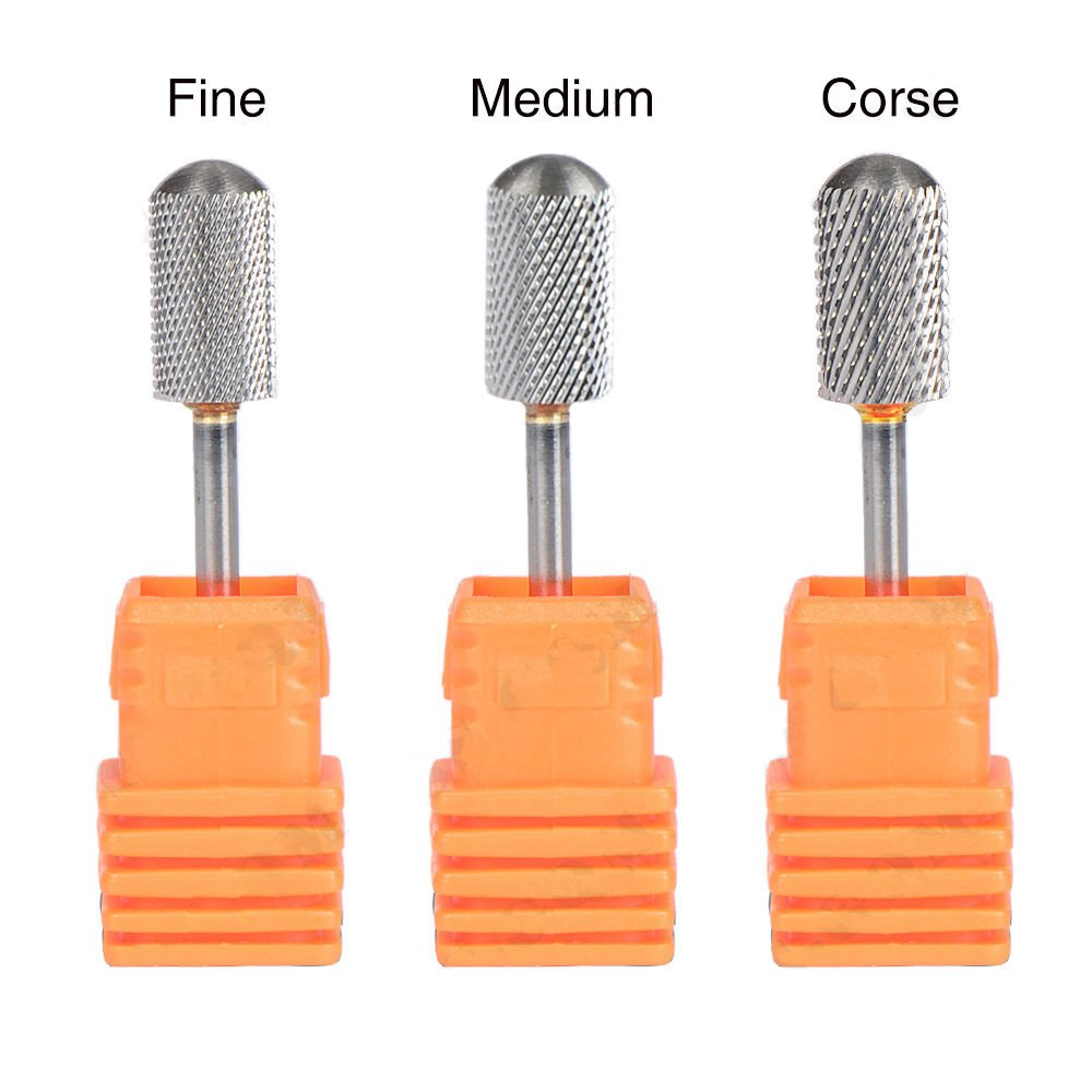 Highmoor Electric Carbide Nail Art Drill File Bit Set Coarse Medium Fine Grit Professional Manicure Drill Bits 3pcs