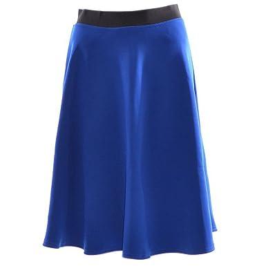 Women Flared Knee Length Skater Skirt Ladies Stretch Midi Office Work Skirt  8-14  Amazon.co.uk  Clothing ef5278936