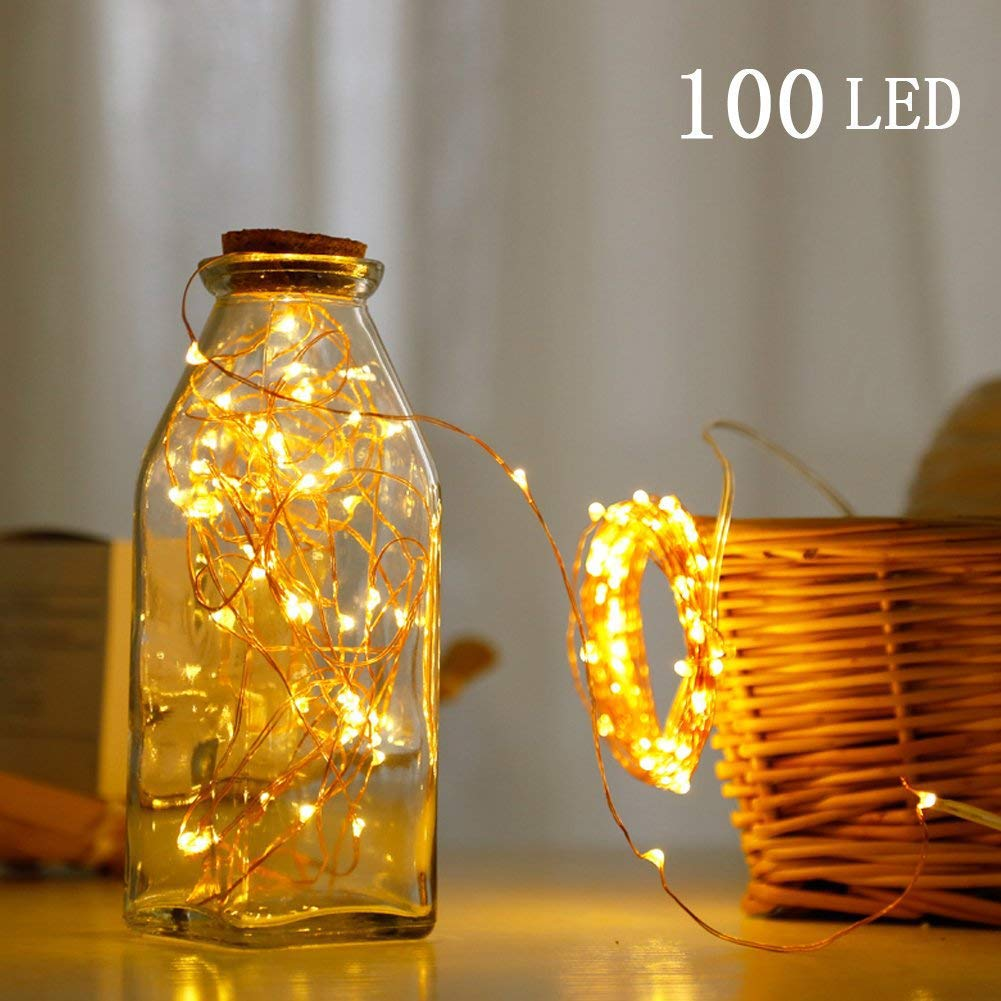 SFUN USB Powered Fairy String Lights with Remote Control 33ft 100LED 8 Modes for Valentine\'s Day Wedding Party Home Decoration