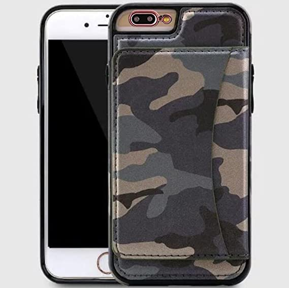 quality design 497a1 73a39 iPhone7 Plus Case, Cool Army Military Camouflage Foldable Stand Slim Cover,  Money Credit Name ID Card Slots, OMORRO Awesome Ultralight Thin PU Leather  ...