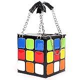 Women's Cute cube Shape Handbag Magic Shoulder Bag Clutch Bag, Colorful, 15x15x15