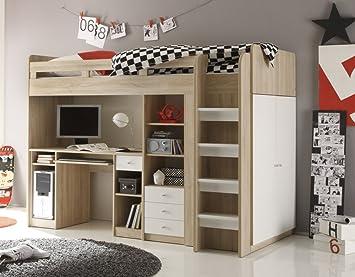 Bega Kinderbett Hochbett Kleiderschrank Schreibtisch United Eiche