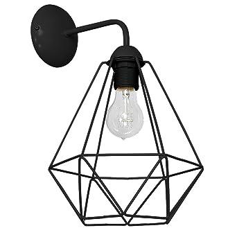 Basket 1 Applique Murale Noir Amazonfr Luminaires Et Eclairage