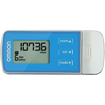 Omron Pedometer with USB HJ-322U Tri-Axis Technology Blue Steps Calories NEW