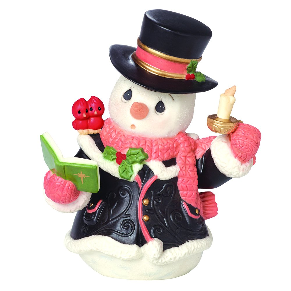 Precious Moments O Come All Ye Faithful Snowman Porcelain Figurine
