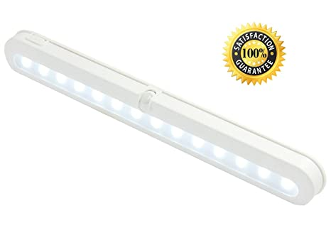 Motion Sensor Light for Wardrobe JEBSENS - T01 NEW 14 LED Battery Operated  Lights for Cabinets