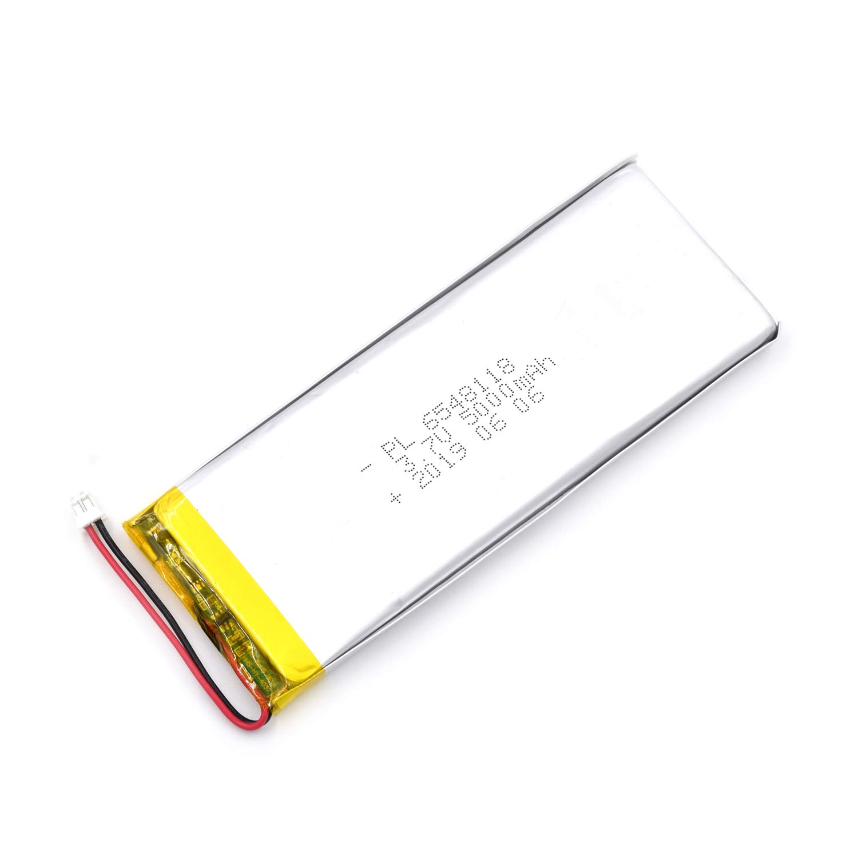 Bateria Lipo 3.7v 5000mah 6548118 Recargable Jst Conector