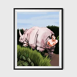 SUATMM Ace Ventura Inspired Bathroom Poster 11x17 - Funny Bathroom Art