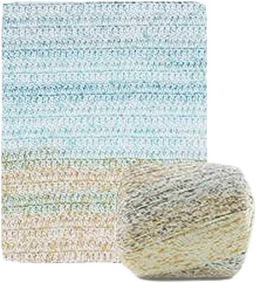 Pigeon Fleet 2 madejas Hilo de Encaje Hilo de algodón DIY Crochet Figuras Hechas a Mano niños Crochet Bolso Hilo, Azul Verde: Amazon.es: Hogar