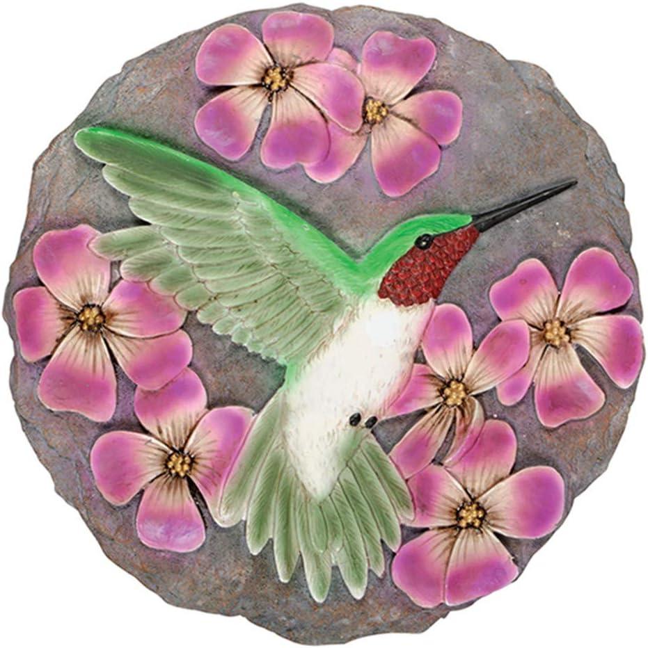 Carson 12778 Hummingbird Garden Stone, Resin Multi