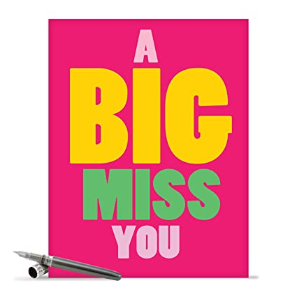 Amazon j2733myg jumbo miss you greeting card a big miss you j2733myg jumbo miss you greeting card a big miss you with envelope big m4hsunfo