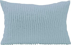Beatrice Home Fashions Channel Chenille Bedspread, Standard Sham, Blue