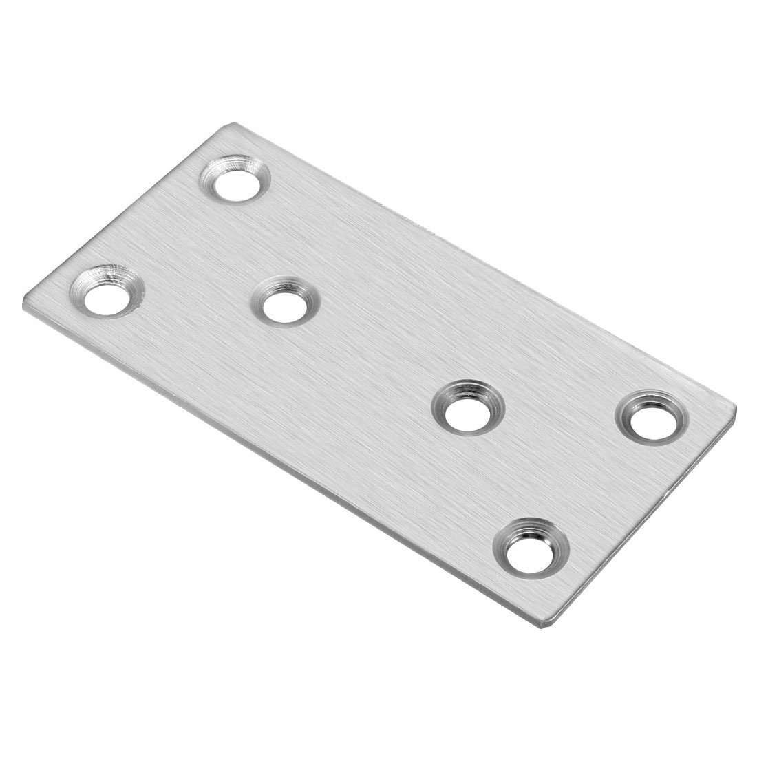 uxcell 1.5mm Thickness Metal Flat Straight Mending Plates Fixing Corner Brace 10pcs SYNCE005812
