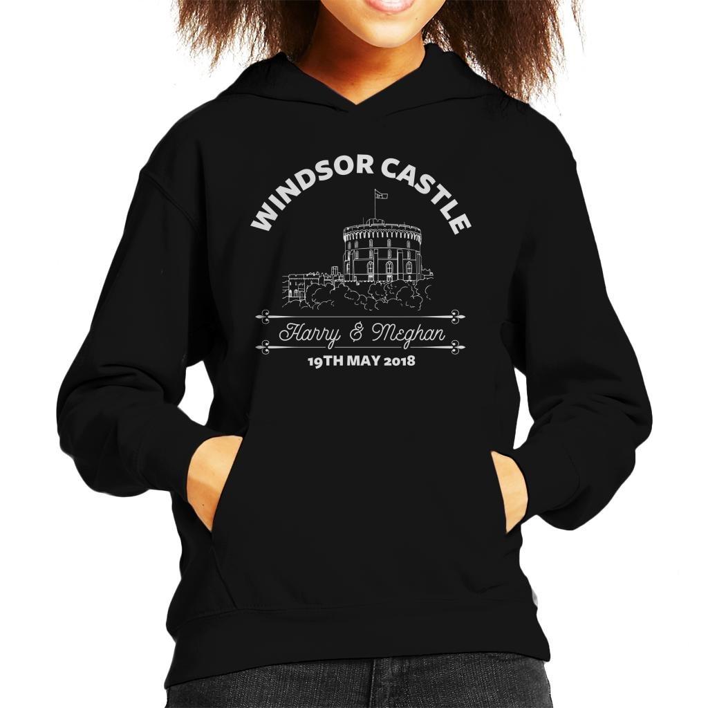 Royal Wedding Windsor Castle Harry and Meghan Kid's Hooded Sweatshirt
