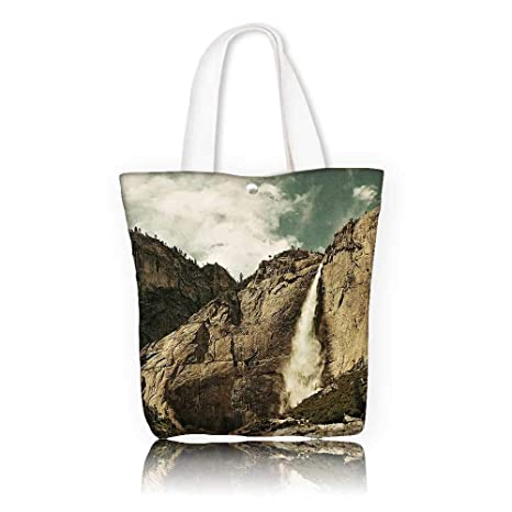 270b11030157 Amazon.com: Canvas Tote Bag -W12 x H14 x D4.7 INCH/reusable shopping ...