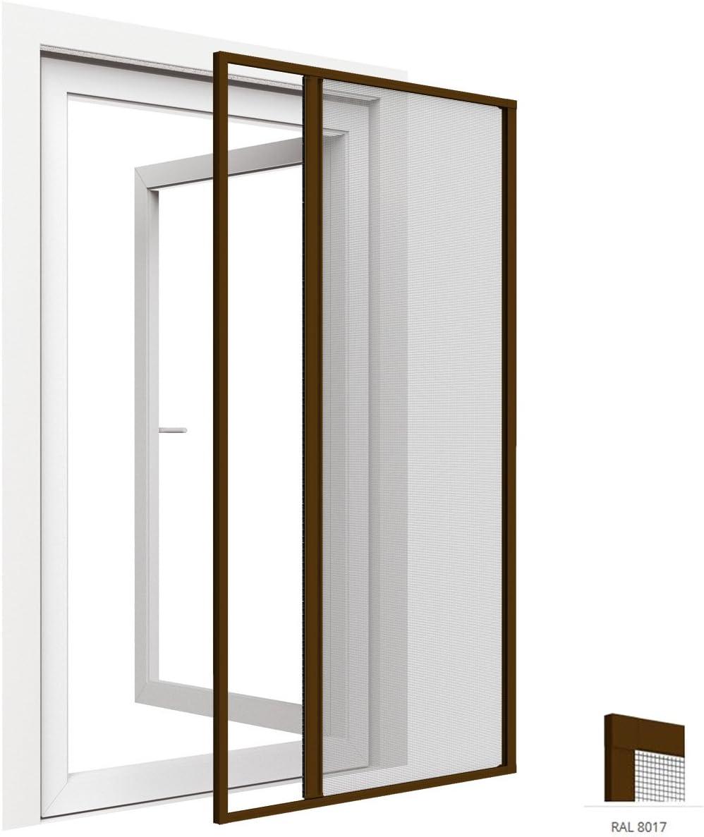 Mosquitera enrollable para puertas de aluminio 125 x 220 cm - Tejido de fibra de vidrio - Diferentes colores a elegir, Color:Marrón: Amazon.es: Hogar