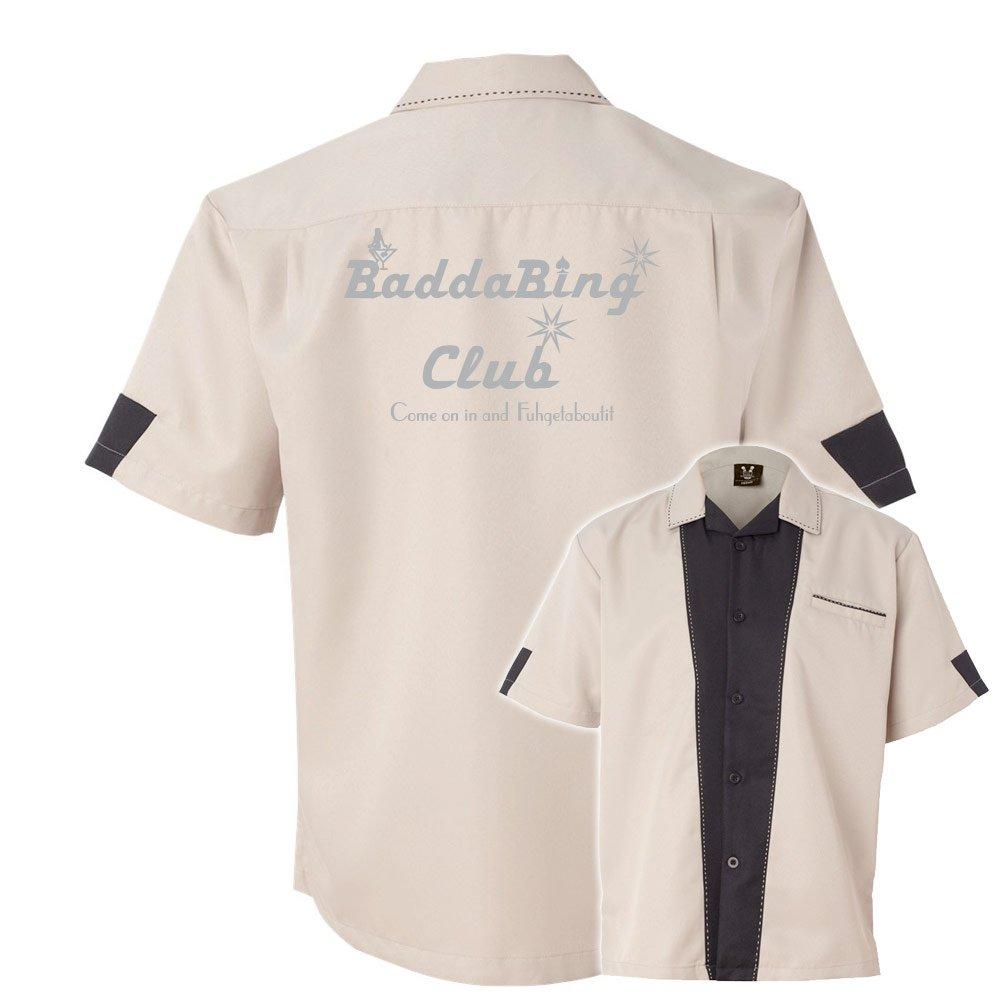 Badda Bing Club Stock Print on Cranker Bowling Shirt