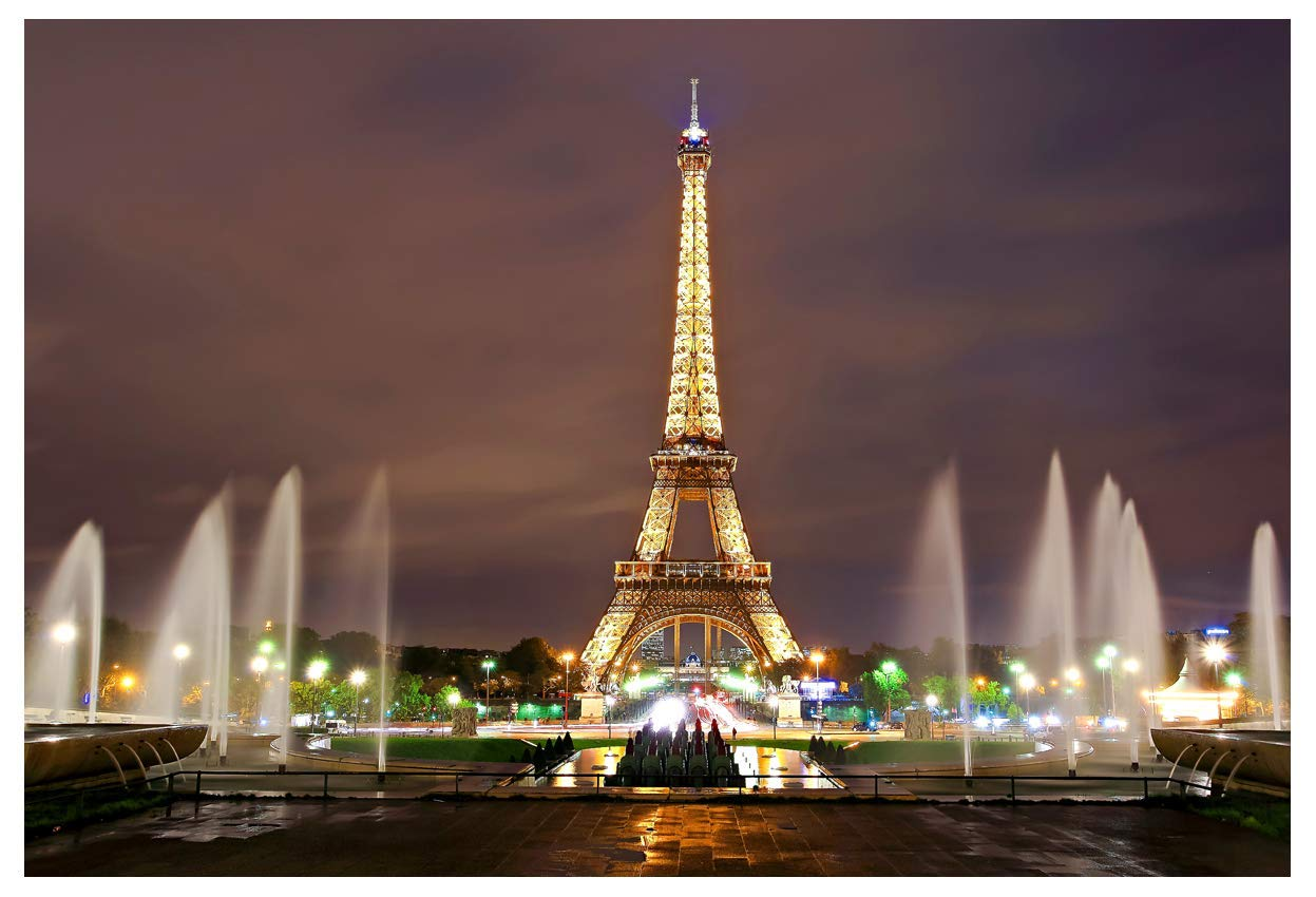 Buy Beautiful Paris Eiffel Tower Square Photo Studio Back 5x7ft Paris Night View Props Wall Photography Background Ey018 Online At Low Price In India Efy Camera Reviews Ratings Amazon In