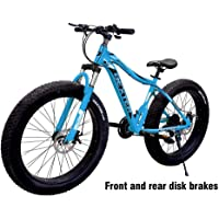 Dexter Front Suspension 21-Speed Adventure Sports Mountain Bike for Men's and Women's Bike with Lightweight 18 Inch Carbon Steel Frame 26x4 inch Tires Bicycle