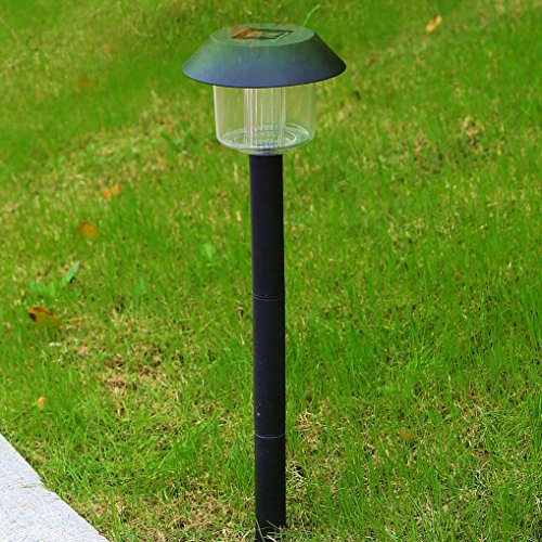 Solar Lights Outdoor Pathway Decorative Garden Large Black Bright White Warm LED Stake Light Set Landscape Lighting Stakes Waterproof Decorations Driveway Lamp for Walkway Outside Yard 6Pack by Sogrand (Image #1)