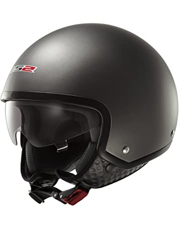 1731e536 LS2 OF561.1 WAVE OPEN FACE SCOOTER HELMET WITH DROP DOWN SUN VISOR (EXTRA