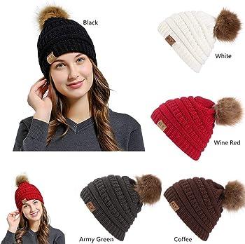 Winwintom Unisex Wool Knit Baggy Warm Ski Beanie