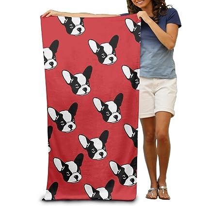 DearLord - Toallas de baño para Perro sin Costuras con diseño de Bulldog francés, Color