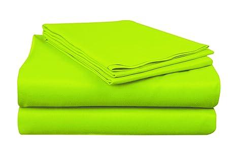 Amazon.com: At Home Microfiber Bright Colored Sheet Set, King ...