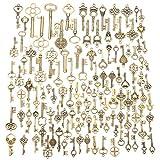 Best Keys - Jeteven 125pcs Vintage Skeleton Charm Key Set Necklace Review