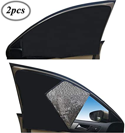 2× Universal Car Rear Side Window Sun Shades Cover for Baby Children Kid Dog Pet