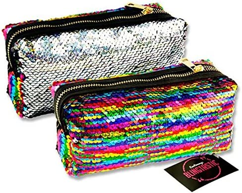 Emotionery Blingtastic - Estuche de Lentejuelas con Purpurina, Color Plateado y arcoíris: Amazon.es: Hogar