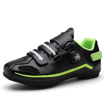 Zapatillas de Ciclismo para Hombre, Zapatillas de Ciclismo de Carretera Transpirables Zapatillas de Ciclismo para