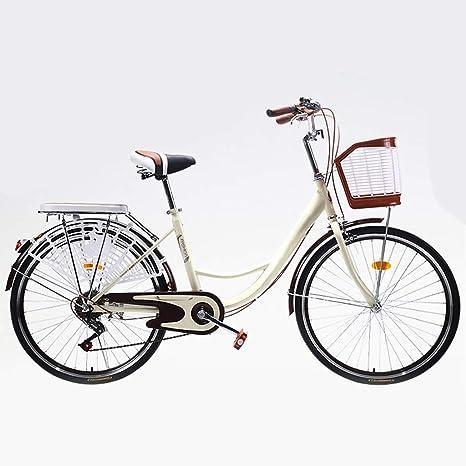 ZXLLO 26 Pulgadas Bicicleta Vintage para Damas Bicicleta De Ciudad ...