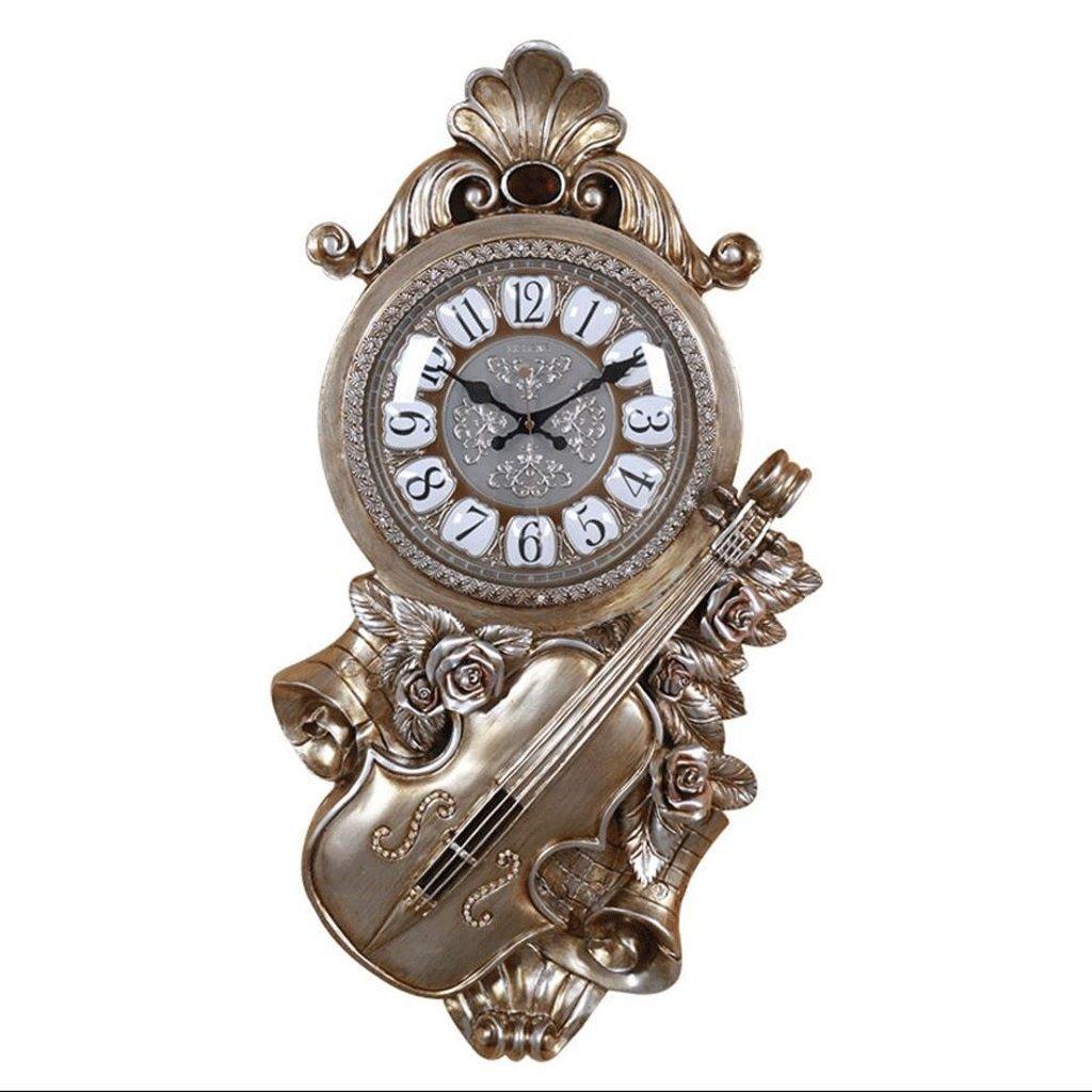 リビングルーム時計ファッションウォールクロックバイオリンクォーツ時計 GAODUZI (色 : B) B07FKS935PB