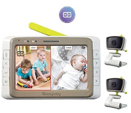MoonyBaby Baby Monitor with 2 Cameras Split Screen