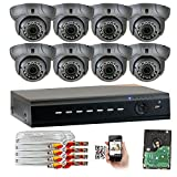 Cheap GW Security 8CH AHD HD 1920 x 1080p Outdoor Indoor DVR Security System with (8) x 1920TVL 2.8-12mm Varifocal Zoom Lens 1080P Dome Cameras, QR Code Remote Access