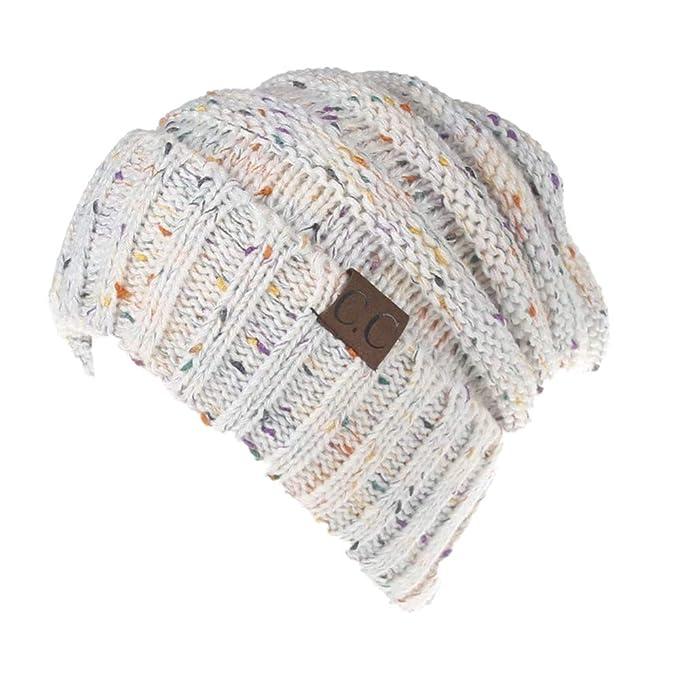 Fliegend Hombre Mujer Gorro de Punto Slouch Beanie Sombrero de Algodón Gorra  de Invierno Tejido Fino de Jersey Transpirable Elástico  Amazon.es  Ropa y  ... 2678a55db61