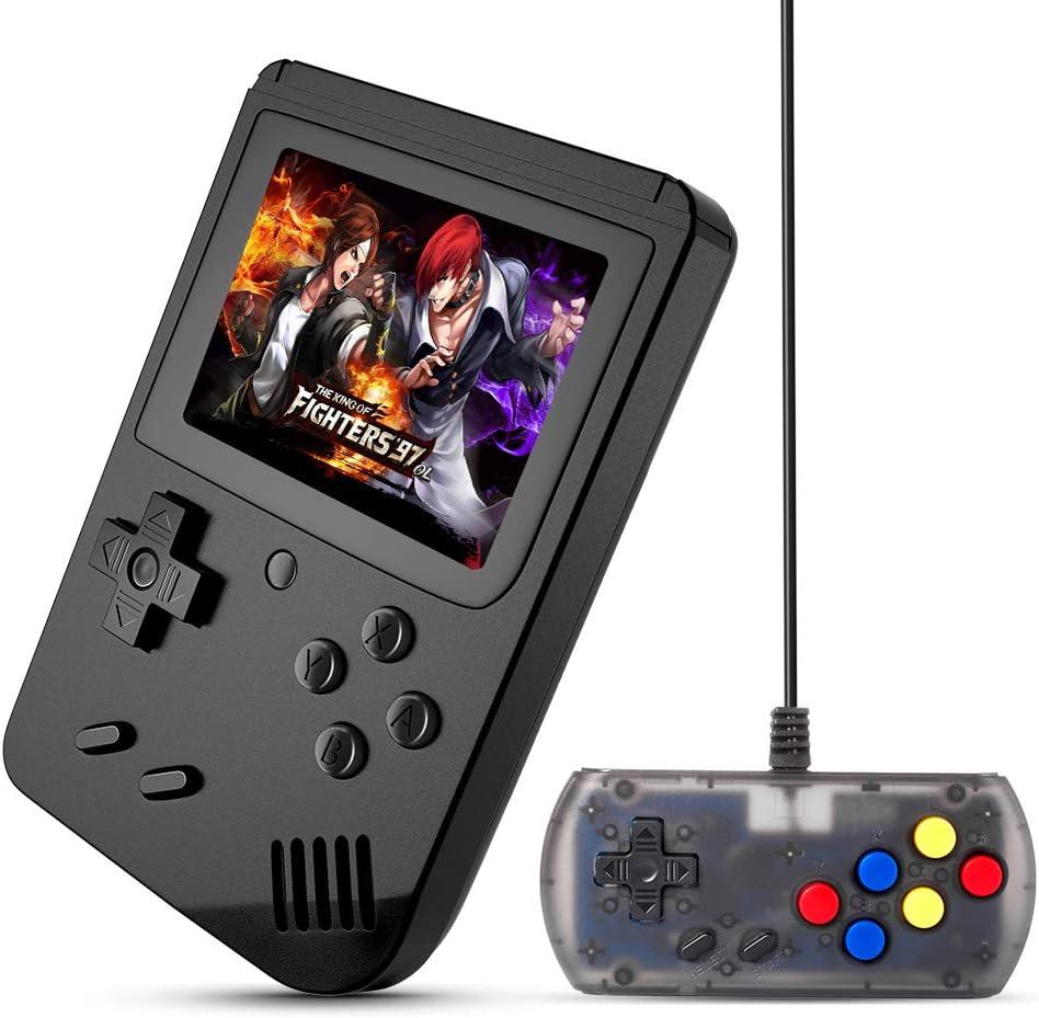 Amazon.es: Meephong - Consola de juegos de mano con pantalla LED de 3.0 pulgadas, salida de TV Retro FC Plus clásica consola de juegos extra Joystick integrado 168 videojuegos de mano (negro)