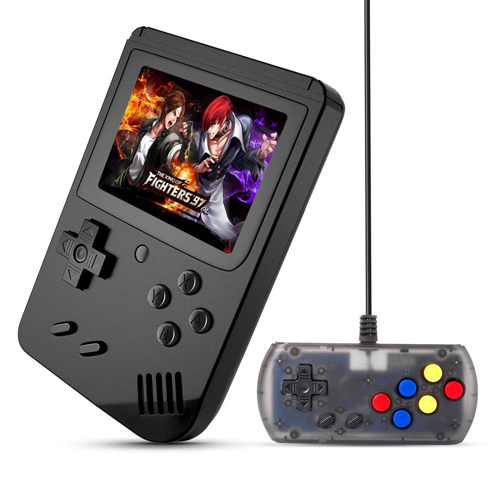 MEEPHONG Handheld Game Console, TV Output Retro FC Plus Extra Joystick NES Classic Game Console Built-in 168 Handheld Video Games (Black) by MEEPHONG (Image #1)