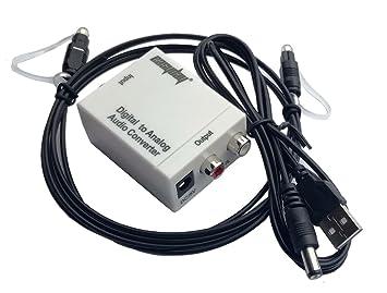 easyday Digital óptica Coaxial Toslink a RCA Analógico Adaptador ...