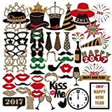 59pcs Photo Booth Props, Wedding Party Birthdays Props Photo Booth Accessories Funny DIY Favors Decorations
