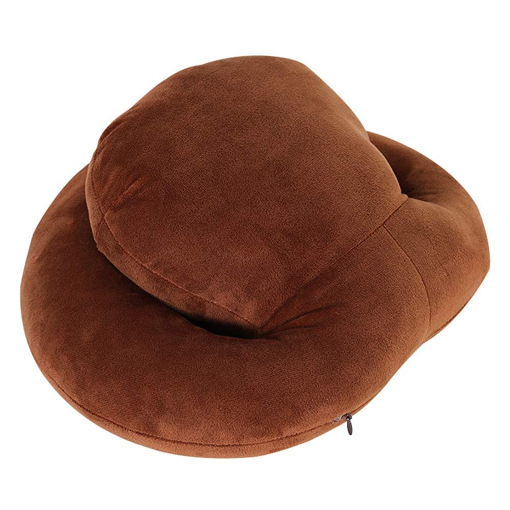 Ruikey Coussin de Voyage Oreiller de Sieste de Bureau Oreiller de Cou en Cotton pour Bien Dormir,Doux et Haut /élastique