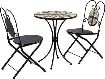 Dreams4Home Faro Set de meubles de bistro - Lot de 2 x 2 x Chaises ...